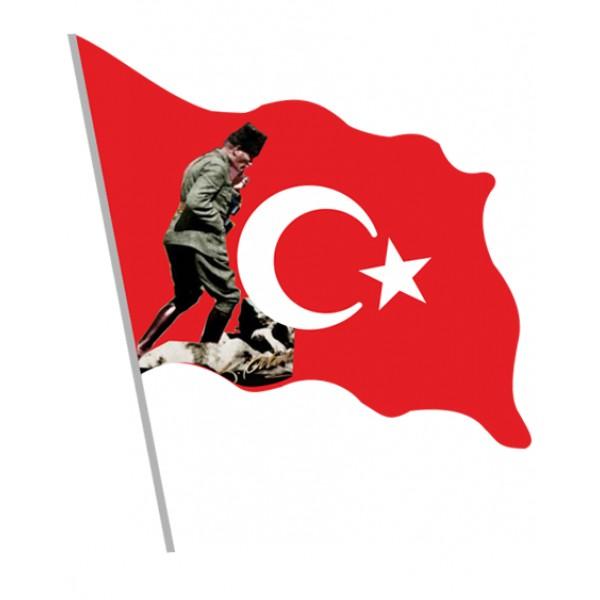 Elde Sallamalı Bayrak/010