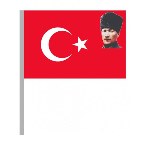 Elde Sallamalı Bayrak/011